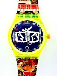 Swatch Watch Vintage Artist Collection  Nam June Paik Limited Edition Rare
