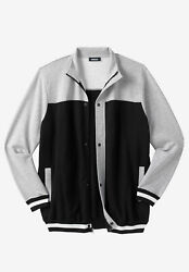 Kingsize Menand039s Big And Tall Coaches Collection Baseball-inspired Jacket