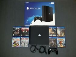 Ps4 Pro With 8 Games And A Controller