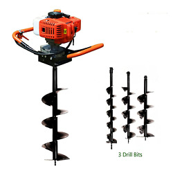 Dyrabrest 52cc Gas Powered Earth Auger Post Hole Digger Borer Fence Ground Drill