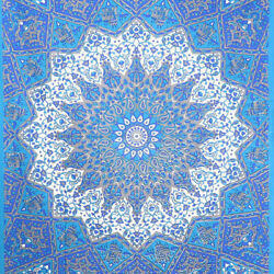 Feel Kozi Psychedelic Mandala Wall Tapestry In Red And Blue Large Tapestry