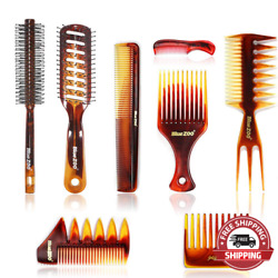 Hair Brushes And Combs Set Of 8, Detangling Brush And Hair Comb Set For Men And