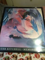 Peter Kitchell 92' Autographed 42.5 X41.5 X 2 Framed Picture, Memory Of Life