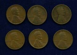 U.s. Lincoln Cents 1 Penny Coins 1915, 1916, 1917, 1917-d, 1918, 1920, 1933-d,.