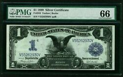 1899 1 Silver Certificate Black Eagle Fr233 Pmg Certified Uncirculated-66