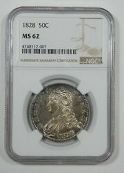 1828 Capped Bust/lettered Edge Half Dollar Certified Ngc Ms 62