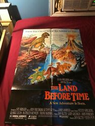 Original 1988 The Land Before Time Nss 880127 Movie Theater Full Sheet Poster