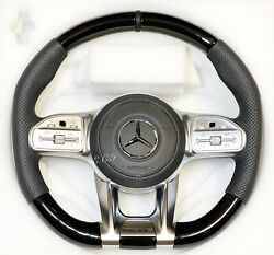 21 Mercedes Amg For 20082012 G550 G55 Piano Black Modified Steering Wheel
