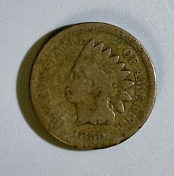 1859 Indian Head One Cent 1 Year Coin Laurel Wreath No Shield