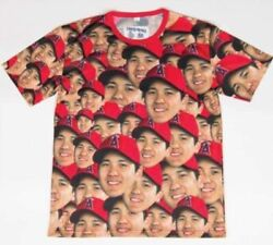 Maturity Shohei Ohtani Los Angeles Angels Face T-shirt Full Of Faces Xl Size