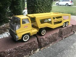 Vintage Tonka Pressed Steel Toy Truck Car Auto Carrier Transport
