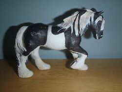 2003 Schleich Black amp; White CLYDESDALE TINKER MARE Draft Horse #13279 Retired