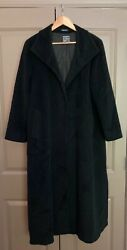 Cinzia Rocca Black Wool Coat Size Us 6 Made In Italy