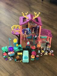 Enchantimals Large Lot Cozy Deer House/6 Dolls/9 Pets/furniture And Accessories