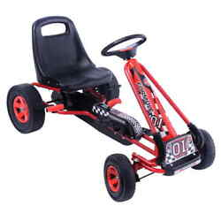 Topbuy Kids Go Kart Pedal Tricycle Racing Ride On Scooter Trainer Trike Red