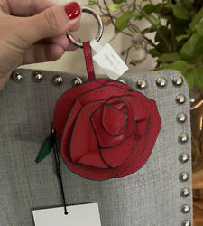 Nwt Vera Bradley Disney Beauty And The Beast Rosy Outlook Bag Charm Rose