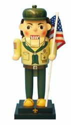 American Boy Scout Wooden Christmas Nutcracker Decoration 12 Inch Scouting New