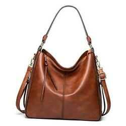 Hobo Bags for women Shoulder Bags Soft Vegan Leather Ladies Fashion Brown $39.46