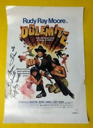 Signed Rudy Ray Moore Dolemite Poster With Setlist On Back Spaceland La 2000