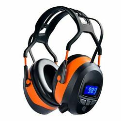 Safety Ear Muffs With Bluetooth Radio Industry Hearing Protection Ear Muffs