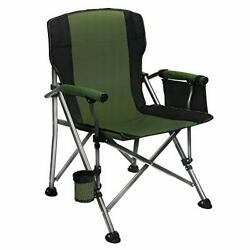 Folding Camping Chair Oversized Collapsible Camp Chair With Cup Holder And