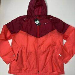 Nike Sportswear Windrunner Running Jacket Red Menand039s Size Xl Ck6341-644 New