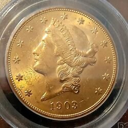 1903-s 20 Pcgs Ms62 - Liberty Double Eagle - Gold Coin Orig. Patina True Color