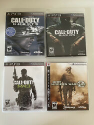 Call Of Duty Ps3 Lot Black Ops, Mw2, Mw3, Ghosts Video Game Bundle