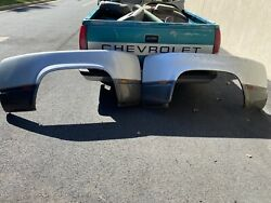 Pair Rear Dually Fender Several Cracks As Is See Pics Oem 1988 2000 Chevy 3500