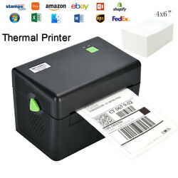 4x6 Direct Thermal Label Printer Barcode Shipping Label Printer For Usps Fedex