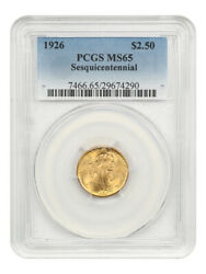 1926 Sesquicentennial 2 1/2 Pcgs Ms65 - Classic Commemorative - Gold Coin