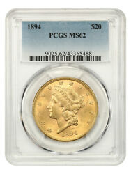 1894 20 Pcgs Ms62 - Liberty Double Eagle - Gold Coin