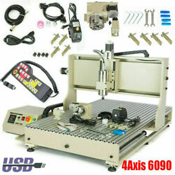 Usb 4axis 1.5kw 3d Engraver Cnc 6090 Router Milling Engraving Machine+ Handwheel
