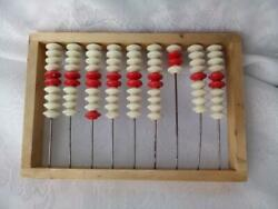 Vintage Toys Accounts Russian Accounts Abacus Wooden Frame With Knuckles Strung