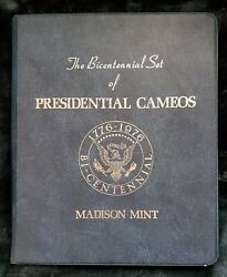 Madison Mint The Bicentennial Set Of Presidential Cameos 42 Ounces .999 Silver