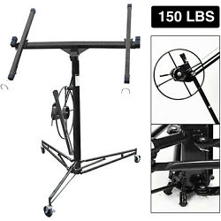 11in Drywall Rolling Lifter Panel Hoist Jack Caster Construction Lockable Tool .