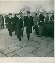 A Group Of Walking Men With Hats And Trench Coats O - Vintage Photograph 3420215