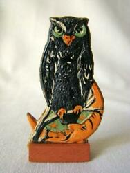 Antique Halloween Owl And Crescent Man In The Moon Skittles Game Piece Germany