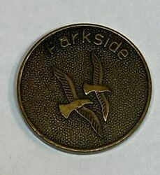 Parkside One Day At A Time Wisconsin Sobriety Aa Bronze Color Metal Coin Doves