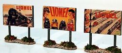 The Ink Well 3 Die-cast Road Signs Of 1948,1951,1954 Lionel Catalog Covers