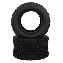 Two 24x12.00-12 24x12-12 8pr Lawn Mower Tractor Turf Tires Tubeless 1710lbs