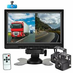 Backup Camera System With 1080p Hd 7'' Dvr Dual Split Screen Monitor, Ip69