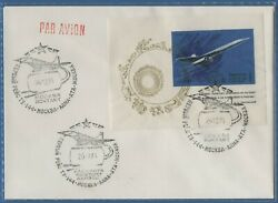 1975 Ussr Tu-144 First Commercial Flight Moscow Alma-ata Flown Cover