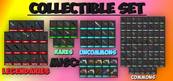 Roblox Mm2 Collectible Set Knifes/guns Fast Delivery