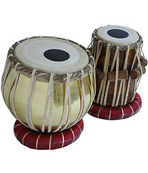 Tabla Drum Set Copper Bayan And Wooden Dayan Percussion Set Hammer Bag And Cushion
