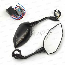 Mirrors Lucifer Dual Led Neat Stem + Oi Flasher Rate Control Relay Fits Minibike
