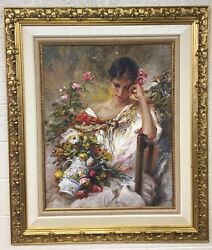 Jose Royo Recuerdo 2000 Signed Serigraph On Board Limited Edition Framed