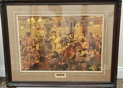 Arnold Friberg Winners And Losers Signed Framed Print Limited Edition Matted