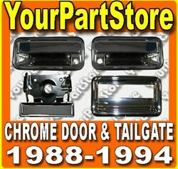 88-94 Chevy Gmc Pu Pickup Truck Chrome Door Tailgate Handle Set Complete Assbly