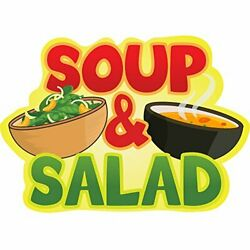 Soup And Salad 48 Concession Decal Sign Cart Trailer Stand Sticker Equipment